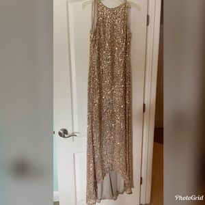 Gold sequined Adrianna Papell dress